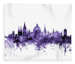 Oxford England Skyline Fleece Blanket