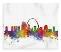 St Louis Missouri Skyline Fleece Blanket