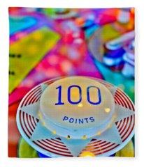 100 Points - Pinball Fleece Blanket