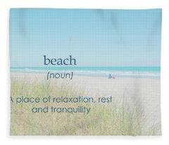 10967 Beach Tranquility Fleece Blanket