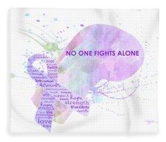 10969 No One Fights Alone Fleece Blanket