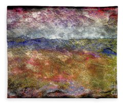 10c Abstract Expressionism Digital Painting Fleece Blanket