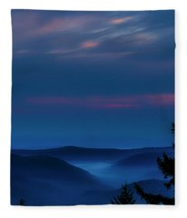 Allegheny Mountain Dawn Fleece Blanket