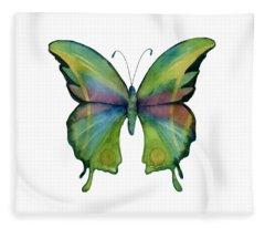 11 Prism Butterfly Fleece Blanket