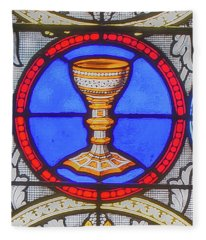 Saint Anne's Windows Fleece Blanket