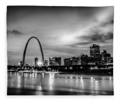 City Of St. Louis Skyline. Image Of St. Louis Downtown With Gate Fleece Blanket