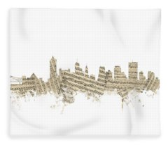 Memphis Tennessee Skyline Fleece Blanket