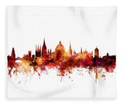 Oxford England Skyline Fleece Blanket