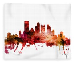 Pittsburgh Pennsylvania Skyline Fleece Blanket