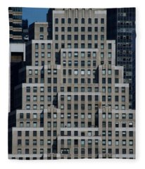 120 Wall Street Nyc Fleece Blanket