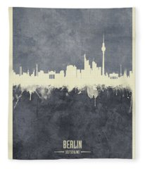 Berlin Germany Skyline Fleece Blanket