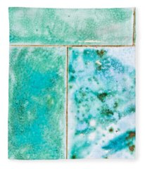 Blue Tiles Fleece Blanket