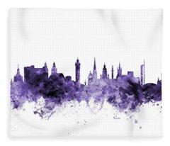 Glasgow Scotland Skyline Fleece Blanket