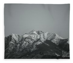 Fleece Blanket featuring the photograph Snow-capped Mountain by Mats Silvan