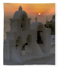 Oia - Santorini Fleece Blanket