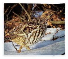 Ruffed Grouse Fleece Blanket