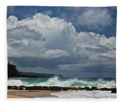 Secret Beach Kauai Fleece Blanket