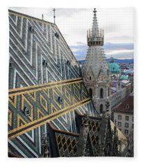 St Stephens Cathedral Vienna Fleece Blanket