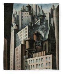 14th Street New York City Fleece Blanket