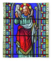 Saint Anne's Windows Fleece Blanket