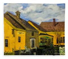 1690 Cafe And Bake Shop Fleece Blanket