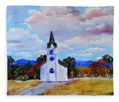 #17 St. Johns Historic Church On Hwy 69 Fleece Blanket