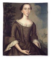 1759 Joseph Badger, Portrait Of A Lady Fleece Blanket