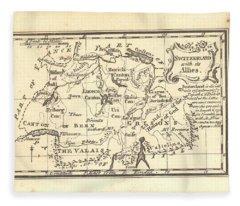 1774 Switzerland Antique Map Fleece Blanket
