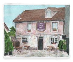 1775 Cafe De La Place Fleece Blanket