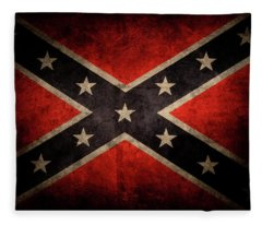 Confederate Flag 7 Fleece Blanket