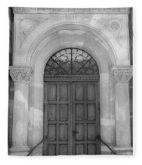 1882 Door Strasbourg France Fleece Blanket