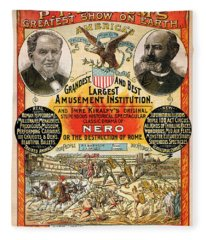 1890 - Circus Poster Fleece Blanket