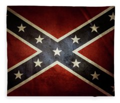 Confederate Flag 12 Fleece Blanket