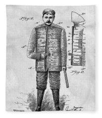 1901 Hunting Jacket  Fleece Blanket