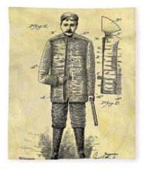 1901 Hunting Jacket Patent Fleece Blanket