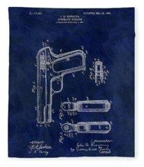 1903 Automatic Firearm Patent Fleece Blanket