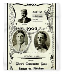 1903 World Series Poster Fleece Blanket