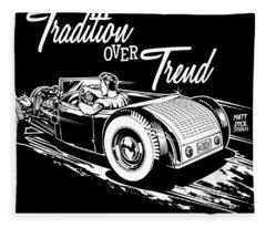 1929 Roadster Design Fleece Blanket