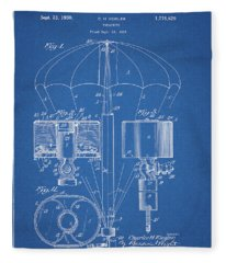 1930 Parachute Patent Fleece Blanket