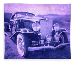 1932 Auburn Speedster Violet Grunge Fleece Blanket