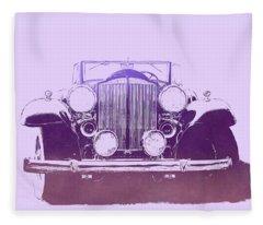 1932 Packard Pop Art Violet Gradient Fleece Blanket