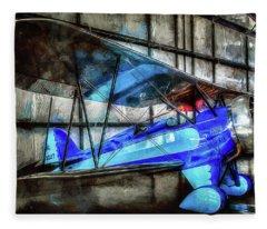 1932 Waco Biplane Fleece Blanket