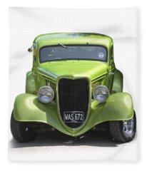 1934 Ford Street Hot Rod On A Transparent Background Fleece Blanket