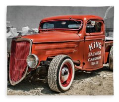 1935 Ford Pickup Custom Rat Tod Fleece Blanket