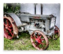 1935 Vintage Case Tractor Fleece Blanket
