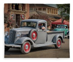 1936 Gmc T-14 Pickup  Fleece Blanket