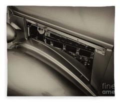 1937 Chevy Truck In Sepia Fleece Blanket