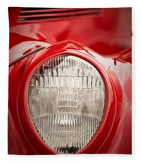 1937 Ford Headlight Detail Fleece Blanket