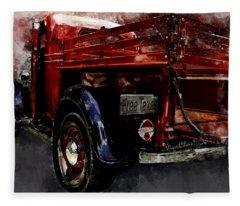 1937 Ranch Pickup Watercolour Fleece Blanket