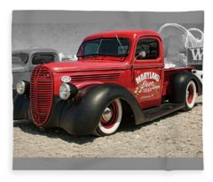 1938 Ford Pickup Rat Rod Fleece Blanket